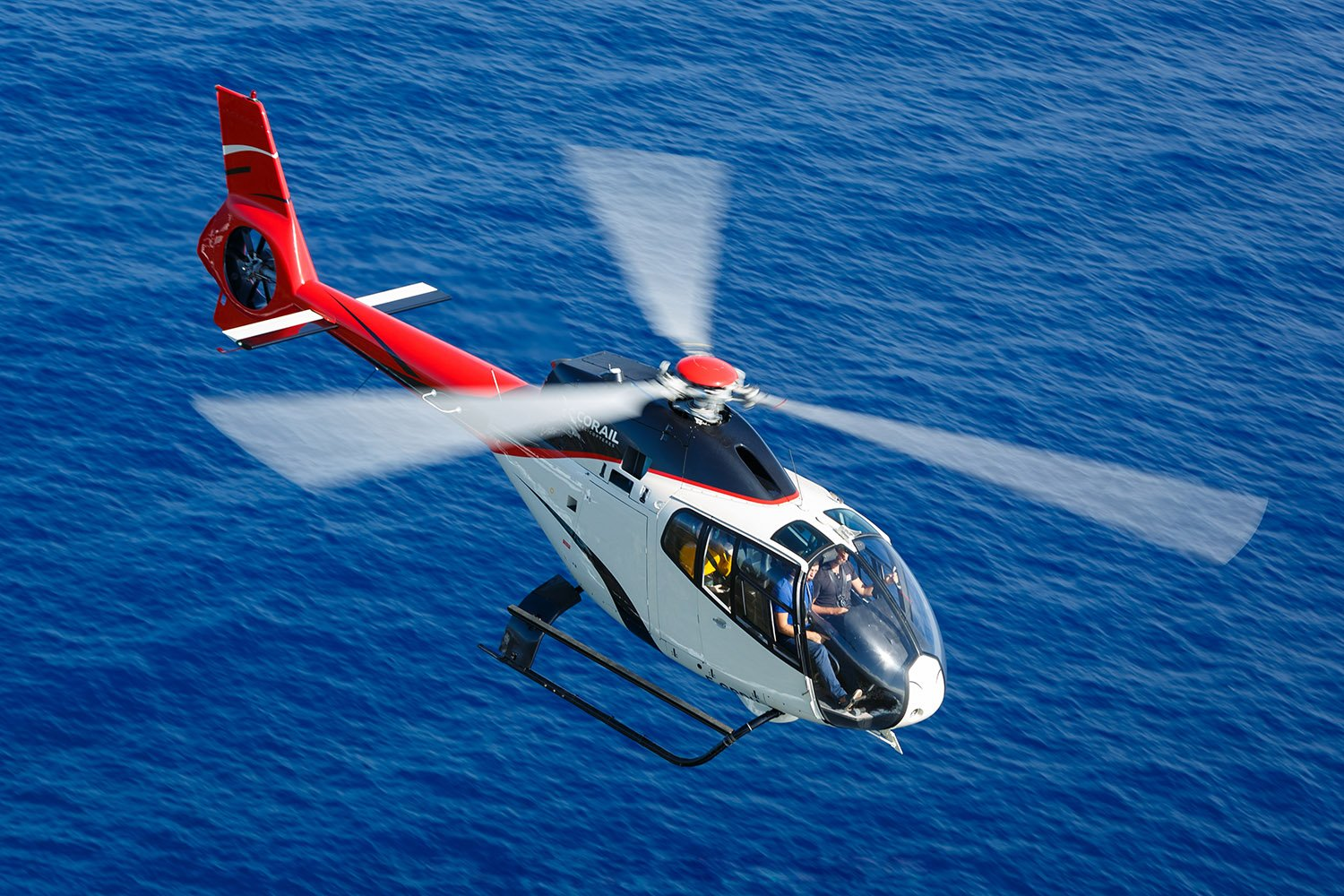 Helicopter in Saint-Martin